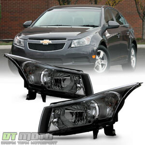 Left right 2011 2015 Chevy Cruze Halogen Headlights Headlamps Lights Aftermarket