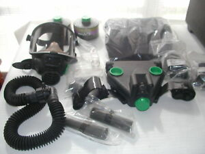 Scott Gas Mask Papr Respirator C50 C420 Size Adult 2 Canisters And Goodies
