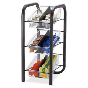 Officemate Breakcentral Breakroom 3 Tier Condiment And Coffee Pod Organizer