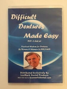 Difficult Dentures Made Easy 2 Dvd Set Thomas H Shipmon Sr Dds Dental 4 Hr Ce
