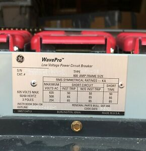 Ge Wavepro Wpx 08 Power Circuit Breaker 800a Frame Size