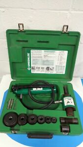 Greenlee Hydraulic Knockout Punch Driver Set Model 7306 Free Shipping