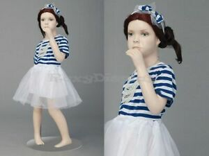 Child Fiberglass Cute Realistic Mannequin Dress Form Display mz ita1