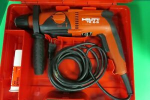 Hilti Te 2 s Corded Rotary Hammer Drill W Case nice Condition Free Shipping