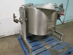 vulcan hart Sl30t H d Commercial Direct Steam 30gl Kettle With Manual Lift