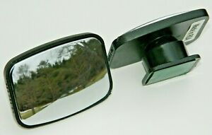 2 New Adjustable Blind Spot Mirror Wide Angle Rear View Trailer Car Side Mirror