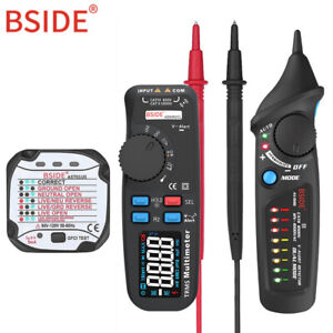 Bside Ac dc Color Display Digital Multimeter Trms Auto Range 6000 Tester Pro Kit