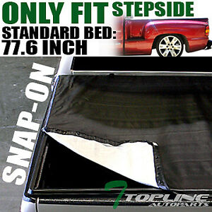 Topline For 1999 Silverado Sierra 6 5 Ft Bed Stepside Hidden Snap Tonneau Cover