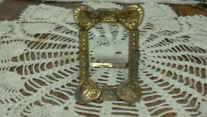 Victorian Embossed Tin Type Small Easel Back Dresser Top Picture Frame