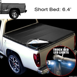 Snap on Tonneau Cover 16x Led Lights 99 07 Silverado sierra Stepside 6 5 Ft Bed