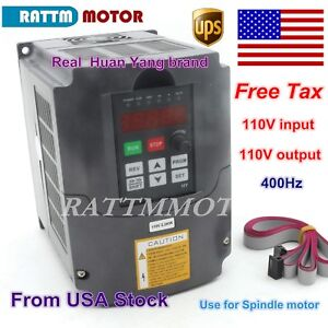 us 2 2kw 110v Vfd Inverter 3hp Variable Frequency Drive 20a Vsd Cnc Hy Brand
