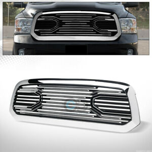Fit 13 19 Dodge Ram 1500 Chrome Big Horn Style Front Bumper Grille Guard W Shell