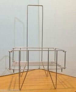 Shopping Baskets Wire Metal Stand 16 w X 13 d X 28 h silver