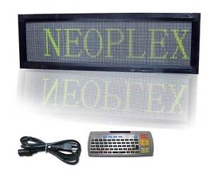 13 H X 42 W Programmable Scrolling 3 Color Led Message Window Sign