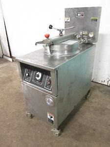 b k i Lpf f48 Hd Commercial Large Capacity 208v 3ph Electric Pressure Fryer
