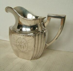 Durgin Sterling Silver Art Deco Water Pitcher 830 1 Grams Thick Walled Vgc