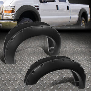 For 11 16 Ford F250 F350 Super Duty Pocket Riveted Style Wheel Fender Flare 4pcs