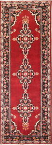 Antique One Of A Kind 11 Ft Red Runner Mahal Oriental Persian Runner Rug 4x11