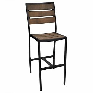New England Collection Outdoor Side Bar Stool New