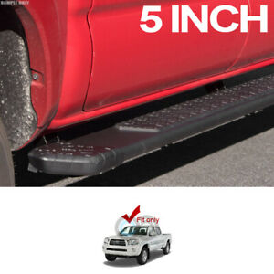 Fits 05 20 Toyota Tacoma Double crew Cab 5 Matte Blk Ti Aluminum Running Boards