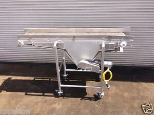 18 X 8 Long Ss Food Conveyor With Plastic Belt Bottle Food Conveying