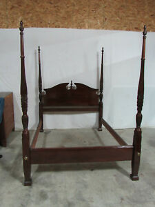 Sumter Cabinet Company Solid Cherry Poster Rice Bed Bedroom Set Queen