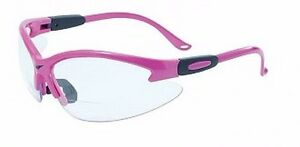 Cougar Pink Bifocal Readers Safety Glasses 1 5 2 0 2 5 Diopter Magnification