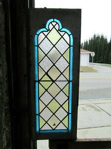 Antique Gothic Stained Glass Window 16 X 40 1 Of 2 Architectural Salvage