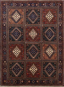 One Of A Kind South West Geometric Tribal 5 X7 Yalameh Persian Hand Knotted Rug