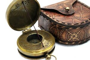 Ross London The Mary Rose Thread Sundial Antique Brass Collectible Compass 1 5