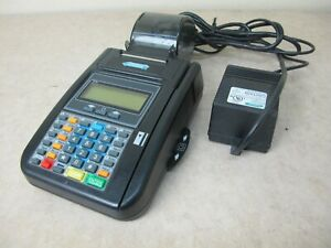 Hypercom T7plus Credit Card Terminal Reader Receipt Printer P n 010283 003 K