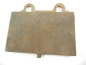 Antique Cook Stove Cast Iron Cover Lb 57 G1062f