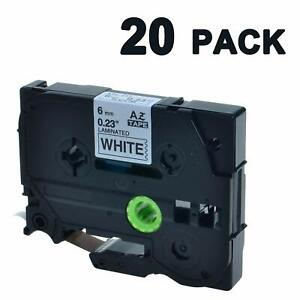 P touch Tze Label Tape 6mm Tze 211 Black On White Compatible Brother Label Maker