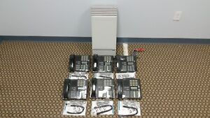 Nortel Mics Office Phone System Package 6 M7310 4 Lines Caller Id