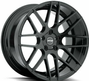 18 Mrr Gf7 Wheels Black Staggered 18x8 0 18x9 0 30 5x100 Fits Jetta Golf Gti