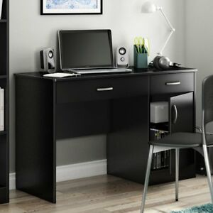 South Shore Axess Collection 47w In Small Desk Pure Pure Black