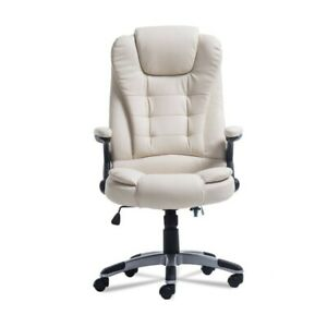 Wireless Massage Chair Home Office Computer Desk Executive 6 Point