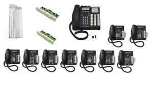 Nortel Compact Ics 8x16 Business Phone System Package 12 With 10 Phones