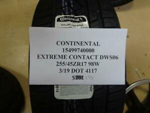 1 New Continental Extreme Contact Dws06 255 45 17 98w Tire 15499740000 Q9