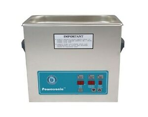 New Crest Powersonic P500h 1 5 Gal 45khz Ultrasonic Cleaner With Basket