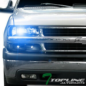 10000k Hid Xenon Black Head Lights Lamps Dy 1999 2002 Silverado 2000 2006 Tahoe