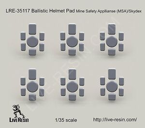 Live Resin 35117 135 Ballistic Helmet Pad Mine Safety Appllianse (MSA)Skydex