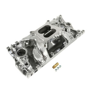 Sbc Small Block Chevy 1996 2002 Vortec Air Gap Polished Aluminum Intake 305 350