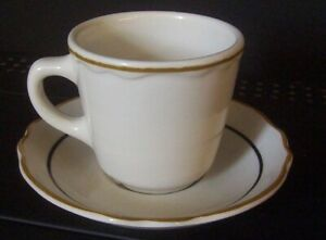 Restaurant Equipment 12 White China Cups Saucers