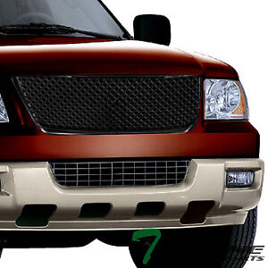 Topline For 2003 2006 Ford Expedition Mesh Front Hood Bumper Grill Grille Blk