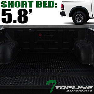 Topline For 2002 2018 Dodge Ram 5 7 Short Cab Rubber Truck Bed Mat Liners Blk