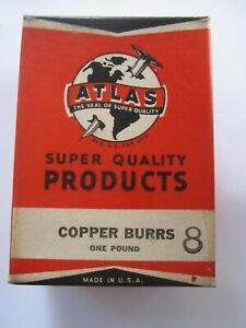 1940 Atlas 8 Solid Copper Rivet Burrs 1 2 Diameter 1 8 Hole 1lb Box 440 Burrs