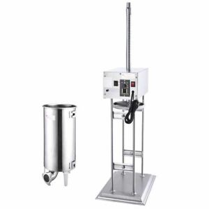33lb Commercial Electric Stainless Steel Vertical Sausage Stuffer Filler 4 Tubes