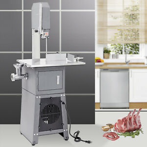 550w Stand Up Butcher Meat Cutting Band Saw Grinder Sausage Stuffer Electric