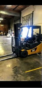 2010 Cat Sit Down Electric Forklift Brand New Battery W 4 Year Warranty On It